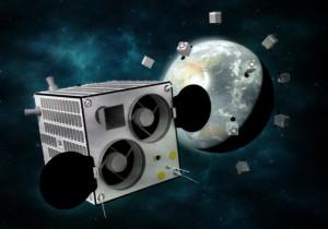 2022年までに打ち上げ予定の衛星「GRUS」。50機によって地球観測網「AxelGlobe」を構築する